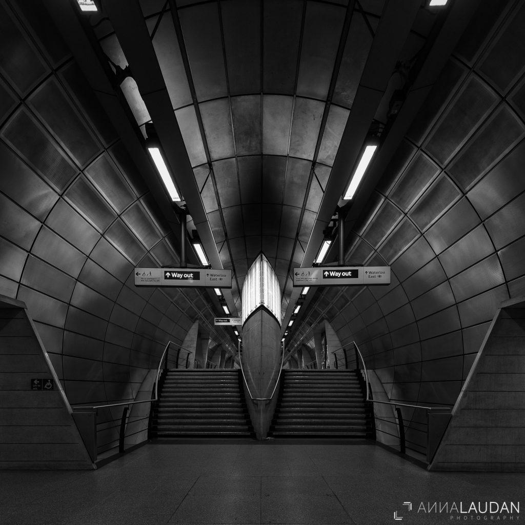 London underground U-Bahn schwarz-weiß