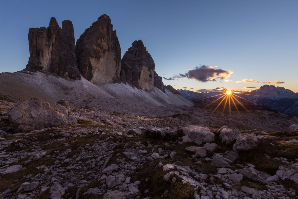 Sunset at the dolomites