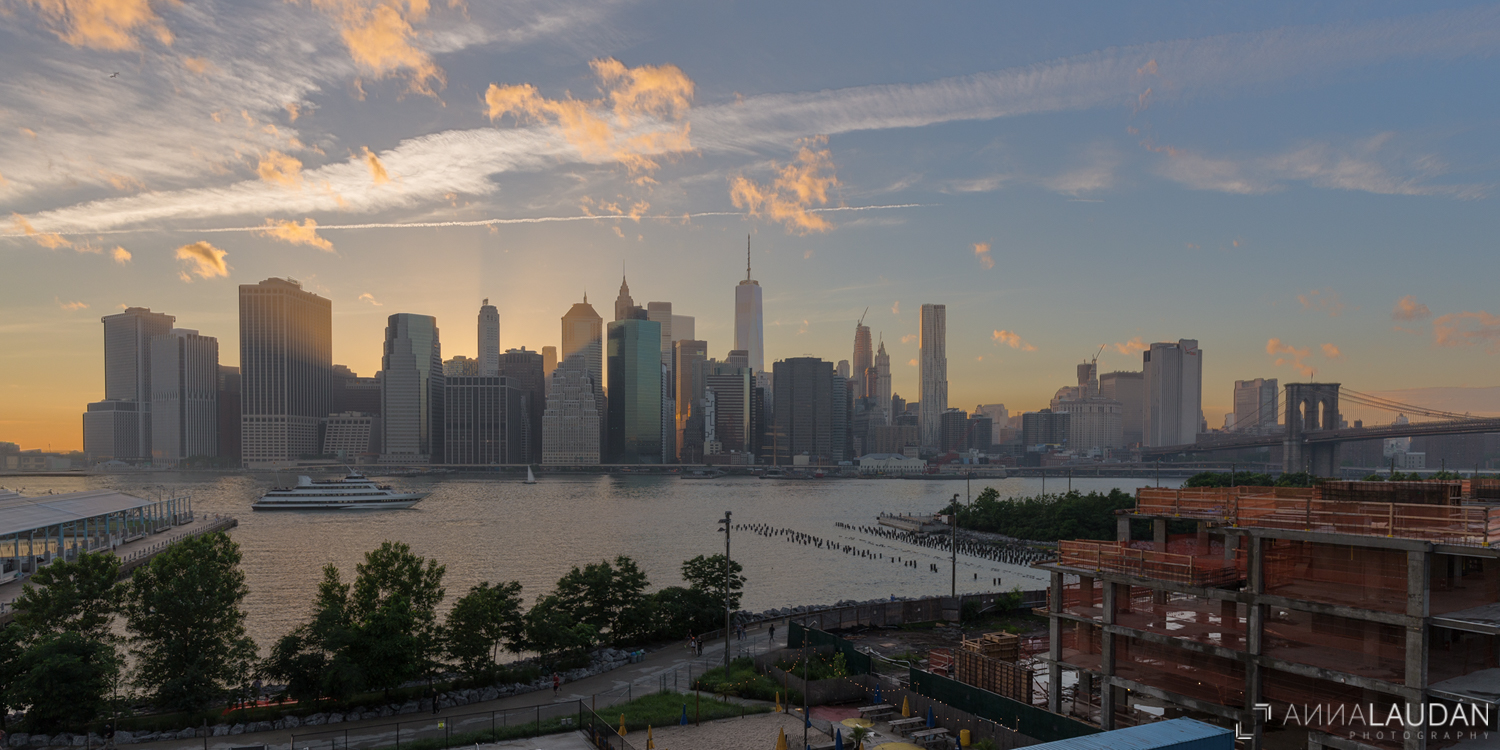 New York Skyline Sunset
