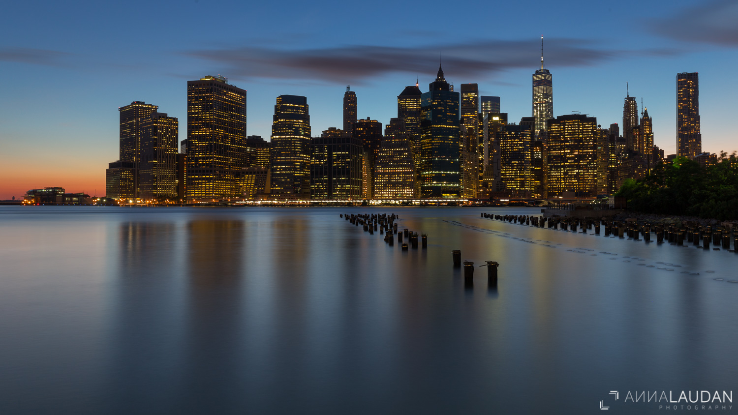 Blue hour at New York