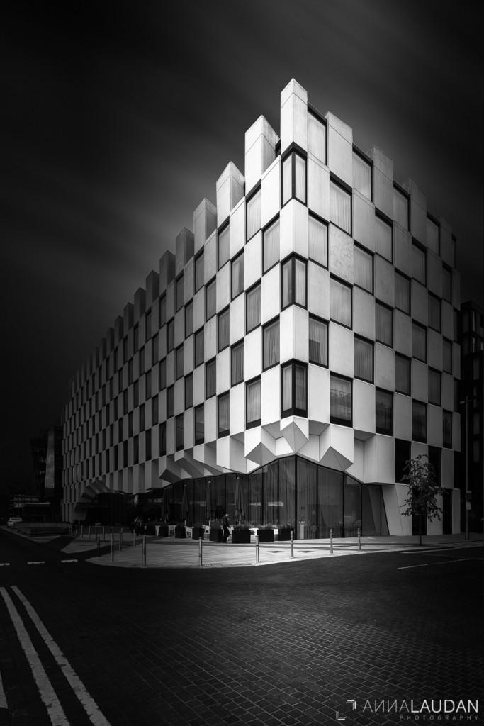 Schwarz Weiß Bild Hotel Dublin Architektur modern
