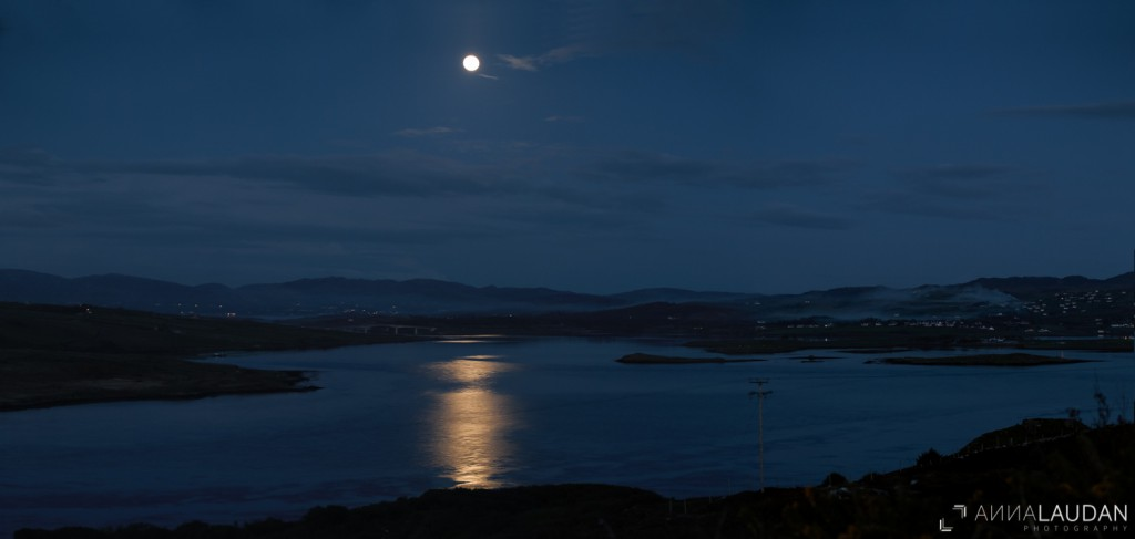 Full moon over Donegal