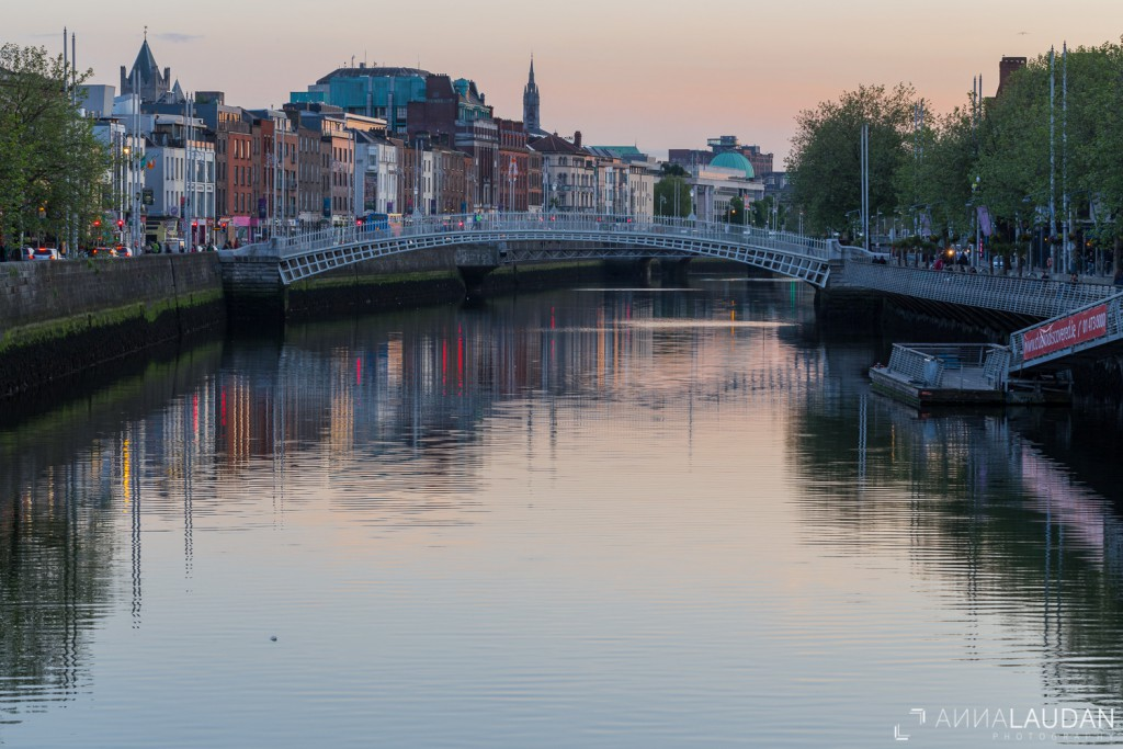 Golden hour in Dublin